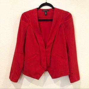 Red Tuxedo Blazer